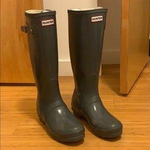 Tall Graphite Hunter Rain Boots
